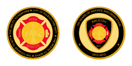 Custom Fire Rescue Firefighter Challenge Coins