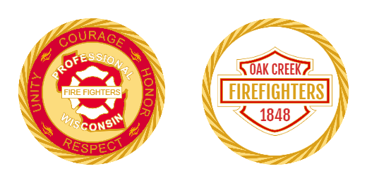 1848 Firefighters Custom Challenge Coins