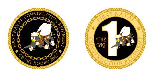 First Naval Custom Challenge Coins
