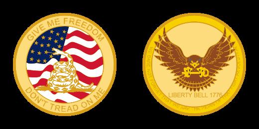 Liberty Bell Custom Challenge Coins