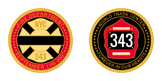 Custom Fire Department Challenge Coins