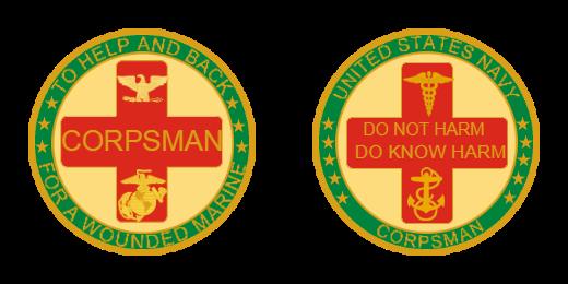 Corpsman Custom Coins
