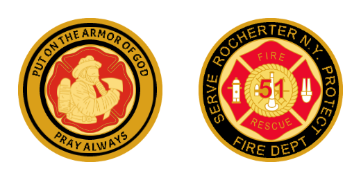 Nice Fire Department Custom Coins