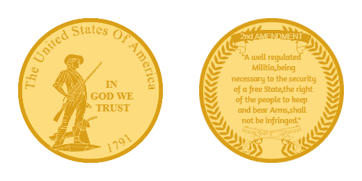 The United States of America Custom Coin