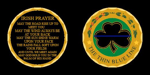 Custom Irish Prayer Patches