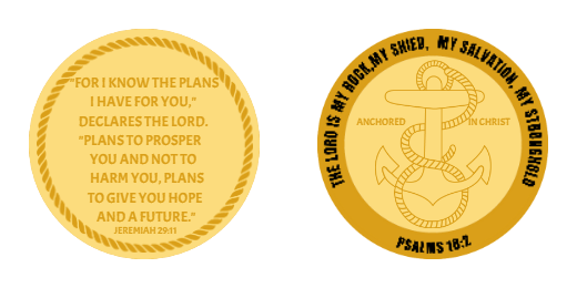 Anchored Custom Challenge Coins
