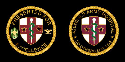 Army Hospital Custom Coins