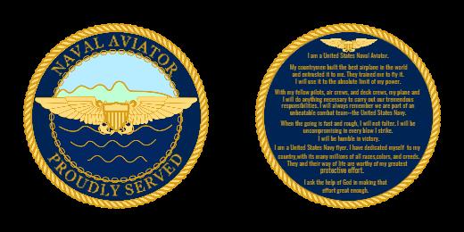 Naval Aviator Custom Coins
