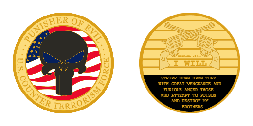 US Counter Terrorism Force Custom Challenge Coins