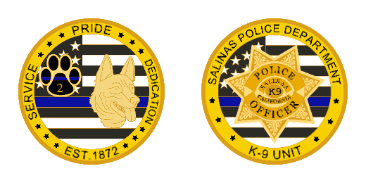 Police Department Officer Challenge Coins