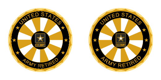 United States Army Retired Custom Challenge Coins