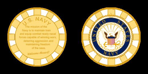 Military Navy Custom Challenge Coins