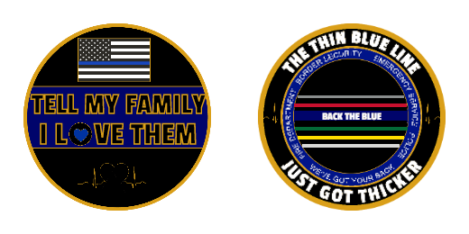 The Thin Blue Line Custom Coins