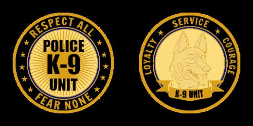 K9 Unite Service Custom Coins