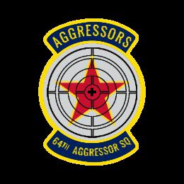 64th Aggressor SQ Custom Patches