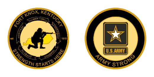 Army Strong Custom Challenge Coins