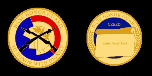 Base Honor Guard Custom Coin