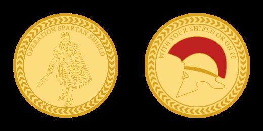Operation Spartan Shield Custom Coins