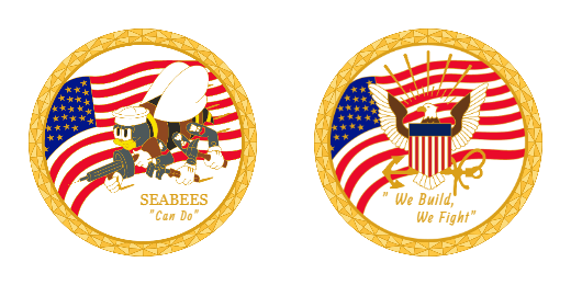 United States Marine Corps We Build We Fight Custom Army Challenge Coins