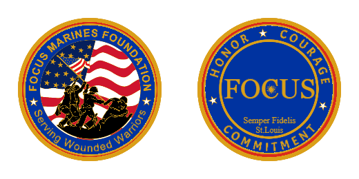 Focus Marines Foundation Custom Coins