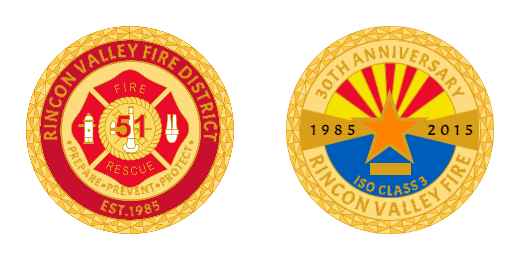 Rincon Valley Fire Coins