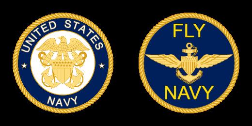 United States Fly Navy Custom Coins